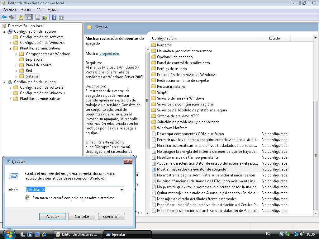 Windows Server 2008: Desactivar Rastreador de Sucesos | Goyko ...